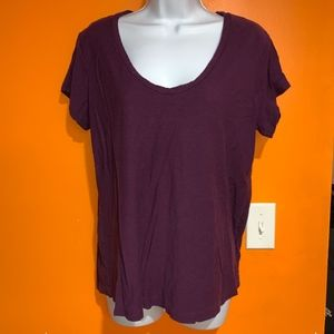 James Perse Purple Short Sleeve Tee Size 4 (XL)